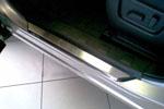 Накладка на пороги Nissan X-Trail T32 2010- (Alu-Frost, Art. 9 NR-2)