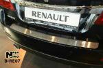 Накладка на задний бампер для Renault Latitude 2010+ (NataNiko, B-RE07)