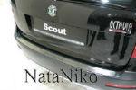 Накладка на задний бампер для Skoda Octavia II Combi 2004+ (NataNiko, B-SK05)