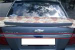 Хром накладка над номером Chevrolet Aveo (Omsa Prime, 1400.7715)