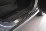 Накладки на внутренние пороги (нерж.) для Opel Meriva I 2002- (Nata-Niko, P-OP13)