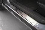 Накладки на внутренние пороги (нерж.) для Opel Astra III H 4/5D 2004-2009 (Nata-Niko, P-OP04)