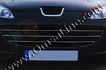Накладки решетки радиатора Peugeot 407  к-т (Omsa Prime, 570405081)