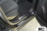 Накладка на внутренний пластик порогов для Chevrolet Tracker 2013+ (NATA-NIKO, PV-CH18)