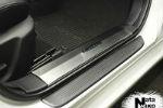 Накладка на внутренний пластик порогов для Mazda 6 III (4D) 2013+ (NATA-NIKO, PV-MA12)