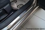 Накладки на внутренние пороги (нерж.) для Volkswagen Polo V 3D 2009- (Nata-Niko P-VW24)