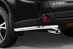 Защита задняя (уголки) d60 для Nissan X-Trail T31 2007- (Cobra, NIS1691)