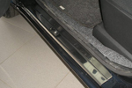 Накладки на внутренние пороги (нерж.) для Nissan Note 2005- (Nata-Niko, P-NI13)