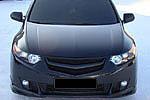Решетка радиатора «Sport» (с планкой) для Honda Accord 8 (BGT-PRO, BGT-PRO-RRPL2-HON-AC8)