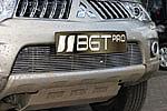 Накладка на решетку бампера (гриль) для Mitsubishi Pajero Sport/L200 (от 2010) (BGT-PRO, BGT-PRO-NRBG-MITS-PSP)
