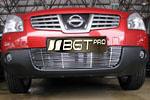Накладка на решетку бампера (гриль) для Nissan Qashqai (до 2010) (BGT-PRO, BGT-PRO-NRBG-NISQASH10)