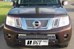 Накладка на решетку бампера (сетка) для Nissan Pathfinder/Navara (от 2010) (BGT-PRO, BGT-PRO-NRBS-NIS-PATH)