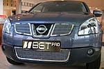 Накладка на решетку бампера (сетка) для Nissan Qashqai (до 2010) (BGT-PRO, BGT-PRO-NRBS-NISQASHQ10)