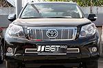 Накладка на решетку бампера (сетка) для Toyota Prado 150 (BGT-PRO, BGT-PRO-NRBS-TOYPR150)