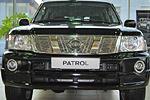 Накладка на решетку радиатора для Nissan Patrol (от 2005) (BGT-PRO, BGT-PRO-NRR-NISPATR05)