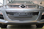 Накладка на решетку радиатора и бампера (сетка) для Mazda CX-7 (от 2010) (BGT-PRO, BGT-PRO-NRRBS-MAZ-CX7)