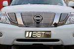 Накладка на решетку радиатора (гриль) под камеру Nissan Patrol 10- (BGT-PRO, RRKGR-NPATR)