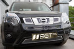 Накладка на решетку радиатора (сетка) для Nissan X-Trail Т-32 (от 2010) (BGT-PRO, BGT-PRO-NRRS-NIS-XT-T32)