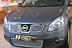 Накладка на решетку радиатора (сетка) для Nissan Qashqai (до 2010) (BGT-PRO, BGT-PRO-NRRS-NISQASHQ10)