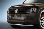 Решетка в бампер Volkswagen Amarok 2010- (Cobra, VW1323)