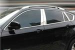 Комплект хром молдингов по периметру боковых стекол для BMW X6 2008-2014 (Kindle, X6-D21)