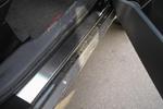 Накладки на внутренние пороги (нерж.) для Mitsubishi Outlander II 2006- (Nata-Niko, P-MI10)