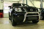 Решётка передняя мини d 76 низкая Nissan Pathfinder 2010- (Союз-96, NPTF.56.0151)