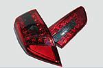 Задняя светодиодная оптика (красная) для Mitsubishi Lancer X 2010- (JUNYAN, YAB-YS-0155A)