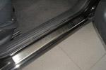 Накладки на внутренние пороги (нерж.) для Renault Laguna III 2007- (Nata-Niko, P-RE09)