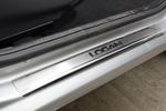 Накладки на внутренние пороги (нерж.) для Renault Logan II 2010- (Nata-Niko, P-RE12)
