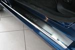 Накладки на внутренние пороги (нерж.) для Renault Megane III 4/5D 2009- (Nata-Niko, P-RE16)