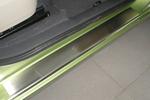 Накладки на внутренние пороги (нерж.) для Renault Scenic II / GRAND Scenic II 2003-2009 (Nata-Niko, P-RE22)