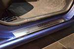 Накладки на внутренние пороги (нерж.) для Renault Logan III 2013- (Nata-Niko, P-RE27)