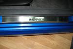 Накладки на внутренние пороги (нерж.) для Subaru Impreza III 2007- (Nata-Niko, P-SB03)