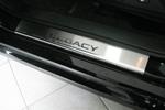 Накладки на внутренние пороги (нерж.) для Subaru Legacy V 2009- (Nata-Niko, P-SB05)