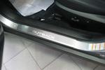 Накладки на внутренние пороги (нерж.) для Subaru Outback IV 2009- (Nata-Niko, P-SB07)