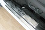 Накладки на внутренние пороги (нерж.) для Subaru Forester IV 2013- (Nata-Niko, P-SB08)