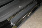 Накладки на внутренние пороги (нерж.) для Seat Altea 2004- (Nata-Niko, P-SE03)