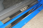 Накладки на внутренние пороги (нерж.) для Seat Ibiza III 5D 2002-2008 (Nata-Niko, P-SE04)