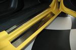 Накладки на внутренние пороги (нерж.) для Seat Leon II 2005- (Nata-Niko, P-SE06)