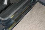 Накладки на внутренние пороги (нерж.) для Seat Toledo III 2004- (Nata-Niko, P-SE14)