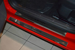 Накладки на внутренние пороги (нерж.) для Seat Leon III 2013- (Nata-Niko, P-SE15)