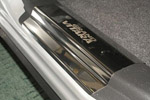 Накладки на внутренние пороги (нерж.) для Suzuki Grand Vitara II 5D 2005- (Nata-Niko, P-SZ03)