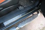 Накладки на внутренние пороги (нерж.) для Toyota FJ Cruiser 2007- (Nata-Niko, P-TO10)