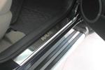 Накладки на внутренние пороги (нерж.) для Toyota RAV4 III 2006- (Nata-Niko, P-TO20)