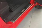 Накладки на внутренние пороги (нерж.) для Toyota Yaris II 5D 2005-2011 (Nata-Niko, P-TO25)