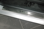 Накладки на внутренние пороги (нерж.) для Toyota Yaris III 5D 2011- (Nata-Niko, P-TO26)
