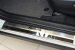 Накладки на внутренние пороги (нерж.) для Toyota Rav4 IV 2012- (Nata-Niko, P-TO27)