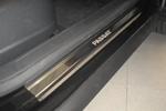 Накладки на внутренние пороги (нерж.) для Volkswagen Passat B6 /CC/B7 2005-/2008- (Nata-Niko P-VW20)