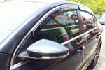 Ветровики с хром вставкой (дефлекторы окон) для Volkswagen Passat B7 2010+ (S-Line, SL.WD.VWPST)
